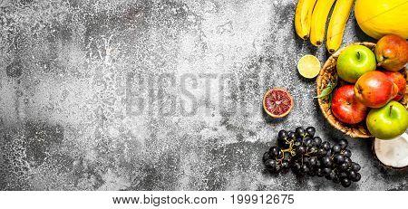 Variety Of Fresh Fruits.