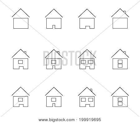 icons representing house Vector illustration symbol set