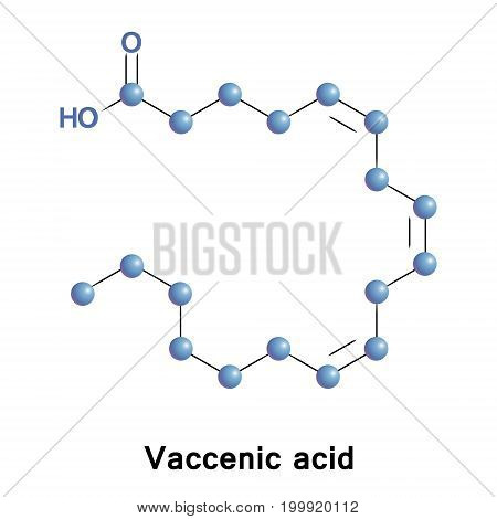 Vaccenic acid, also known as octadecenoic acid is a naturally occurring trans-fatty acid found in the fat of ruminants and in dairy products such as milk, butter, and yogurt.