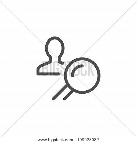 Recruiting line icon isolated on white. Vector illustration