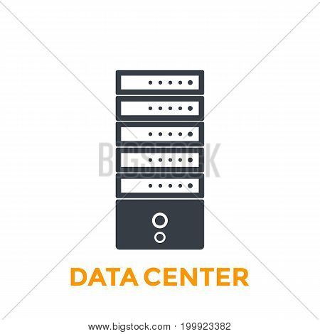 server, data center vector icon, eps 10 file, easy to edit