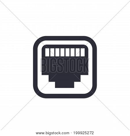 ethernet, network port icon, eps 10 file, easy to edit