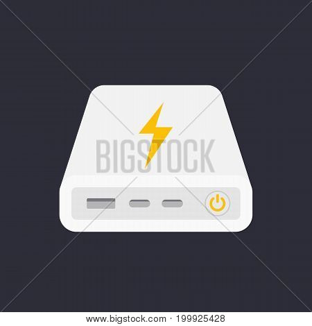 power bank, portable charger vector illustration, eps 10 file, easy to edit