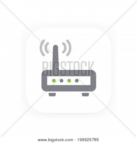Router vector icon, wifi modem vector illustration, eps 10 file, easy to edit