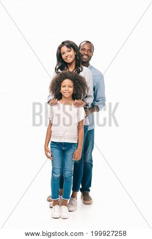 Happy African American Parents With Daughter