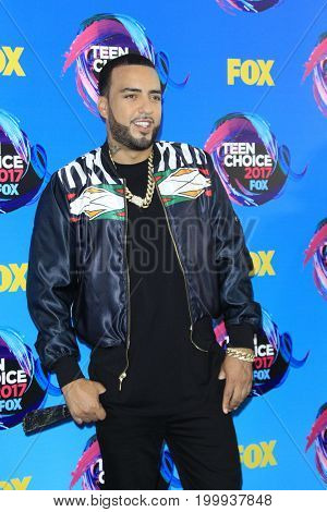 LOS ANGELES - AUG 13:  French Montana at the Teen Choice Awards 2017 at the Galen Center on August 13, 2017 in Los Angeles, CA