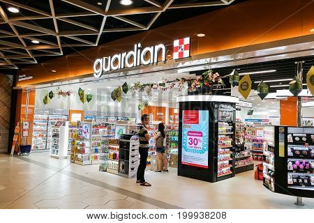 Kuala Lumpur, Malaysia, June 25, 2017:  Guardian Pharmacy Is The Leading Healthcare Chain Retailer W