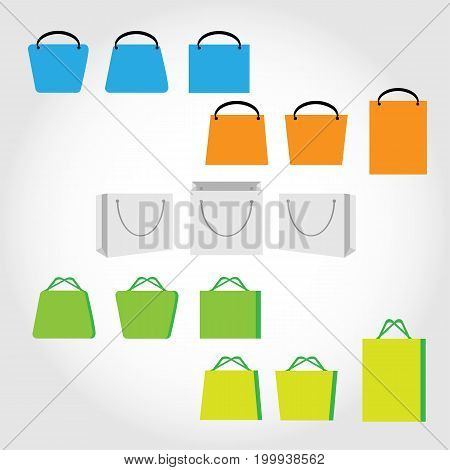 Various Type of Shopping Bag Icons .