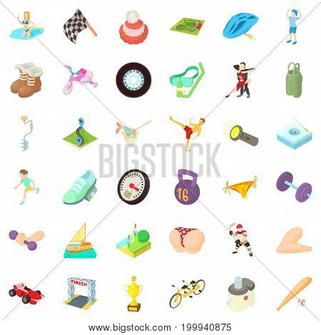 Activity life icons set. Cartoon style of 36 activity life vector icons for web isolated on white background
