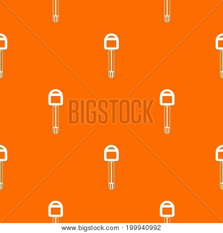 Car key pattern repeat seamless in orange color for any design. Vector geometric illustration