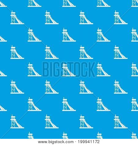 Equipment for washing rocks pattern repeat seamless in blue color for any design. Vector geometric illustration