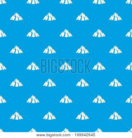 Rock pattern repeat seamless in blue color for any design. Vector geometric illustration
