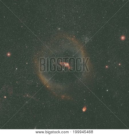 Wide-field Image Of The Bubble Nebula. Ground-based Image.