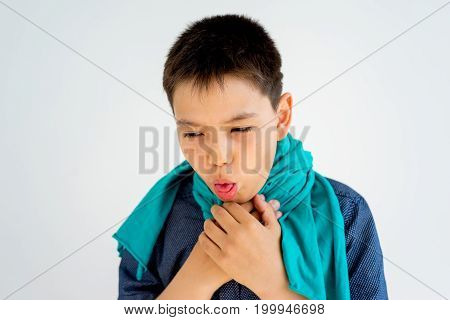 A portrait of a boy showing different emotions