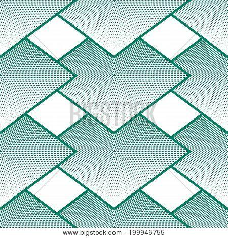Geometrical Seamless Pattern, Rhombuses Halftone