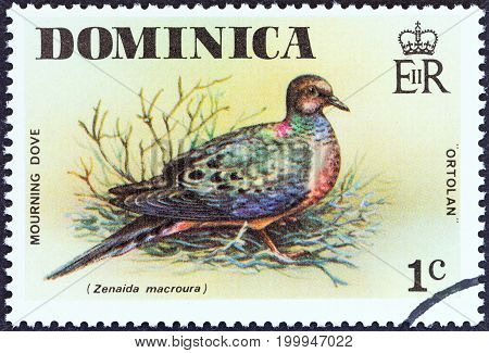 DOMINICA - CIRCA 1976: A stamp printed in Dominica from the