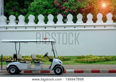 Police Golf Buggy On Street.