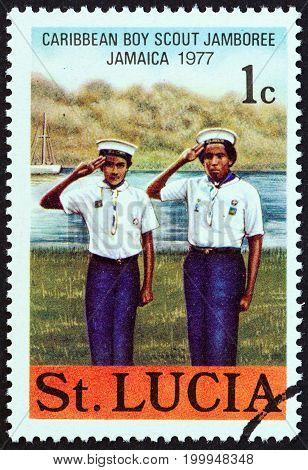 SAINT LUCIA - CIRCA 1977: A stamp printed in Saint Lucia from the