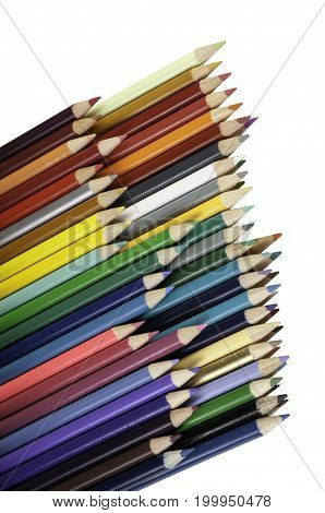 A large collection of colored pencils for use in art class.