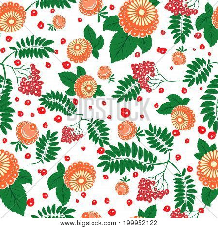 Floral Seamless Pattern In Slavic National Style