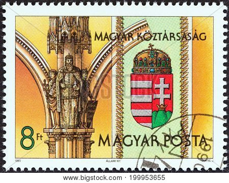 HUNGARY - CIRCA 1990: A stamp printed in Hungary from the