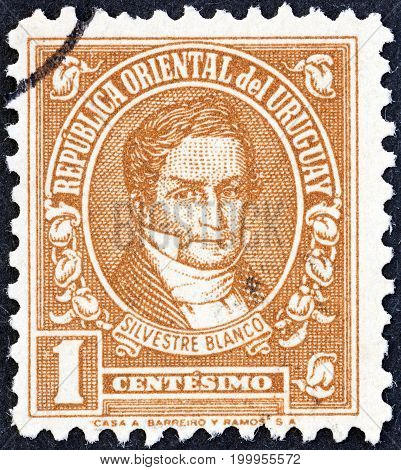 URUGUAY - CIRCA 1945: A stamp printed in Uruguay from the