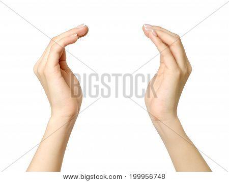 Female Hands Holding Something