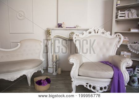 Interior Of A Room With Retro Furniture