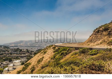 Road going to Twin Peaks San Francisco