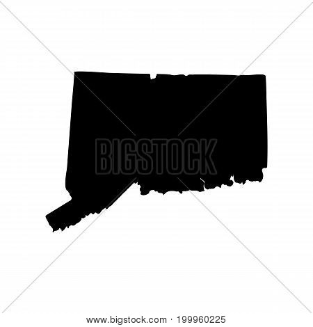 Map of the U.S. state of Connecticut on a white background