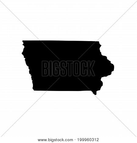 Map of the U.S. state of Iowa on a white background