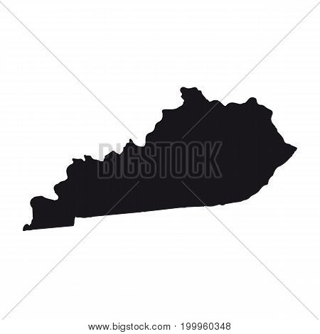 Map of the U.S. state of Kentucky on a white background