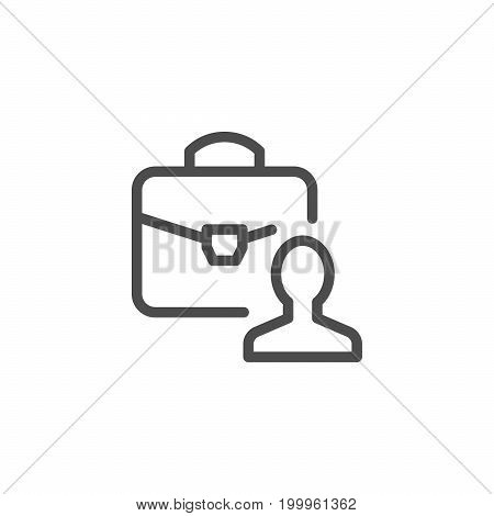 Business person line icon isolated on white. Vector illustration