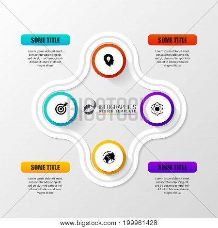 Infographic report template with icons. Business concept. Vector illustration
