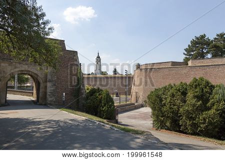 BELGRADE, SERBIA - JULY 31, 2017:Entrance to the territory of the Belgrade Fortress Serbia