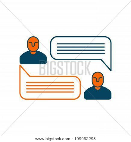 Dialog Messaging Bubble Sign. Concept Of Communication. Business Icon Symbol Speak