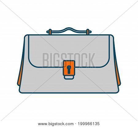 Business Briefcase Isolated Icon. Office Suitcase For Documents