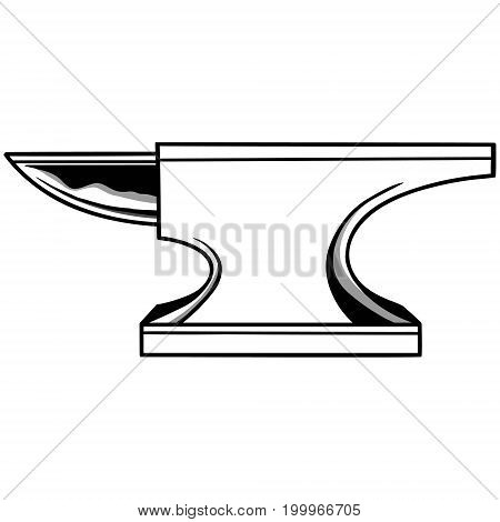 A vector illustration of a metal Anvil.