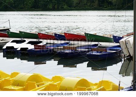 boat rental at lake Maschsee in Hannover Germany