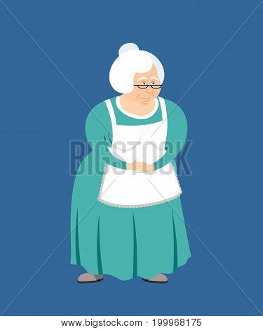 Grandmother isolated. granny. Elderly woman. Pensioner vector illustrator