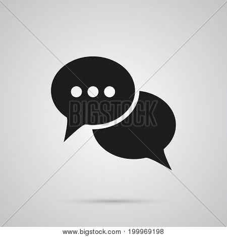 Vector Talk  Element In Trendy Style.  Isolated Conversation Icon Symbol On Clean Background.