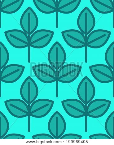 Young Sapling Seamless Pattern. Sprout Plant Background