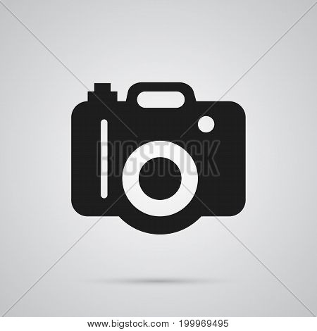 Isolated Dslr Camera Icon Symbol On Clean Background