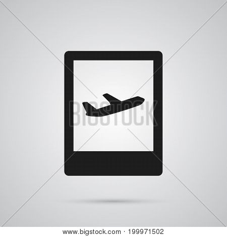 Isolated Airport Sign Icon Symbol On Clean Background