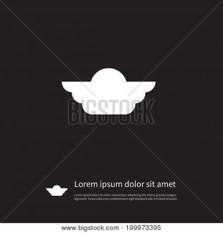Flight Vector Element Can Be Used For Wings, Flight, Scud Design Concept.  Isolated Emblem Icon.