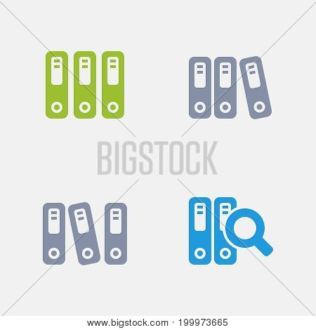 Ring Binders - Granite Icons. A set of 4 professional, pixel-perfect icons designed on a 32x32 pixel grid.