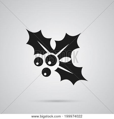 Vector Ilex Element In Trendy Style.  Isolated Holly Icon Symbol On Clean Background.