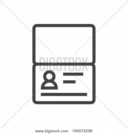 Vector Certificate   Element In Trendy Style.  Isolated Passport Outline Symbol On Clean Background.