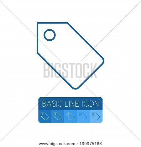 Label Vector Element Can Be Used For Tag, Label, Badge Design Concept.  Isolated Tag Outline.