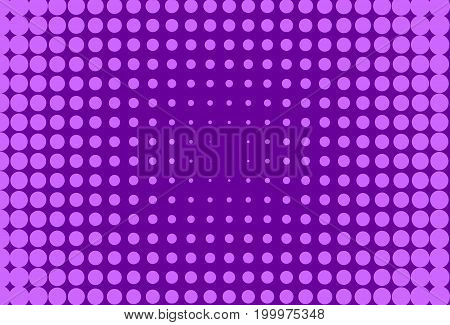 Halftone pattern. Comic background. Dotted retro backdrop with circles, dots. Design element for web banners, posters, cards, wallpapers, sites. Pop art style. Vector illustration. Colorful purple